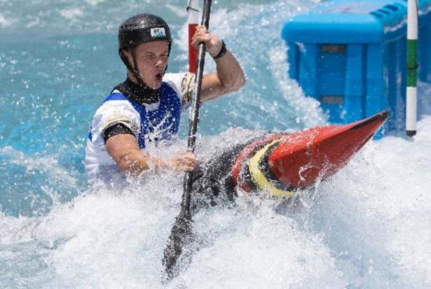 Gabriel De Coster, manque une porte, et finit 24e de la première manche en kayak