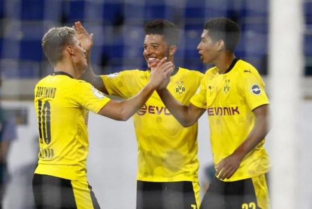 Belgen in het buitenland - Dortmund heeft geen moeite met Duisburg in Duitse beker, goal en assist voor Hazard