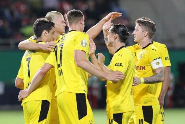 Les Belges à l'étranger - Dortmund, avec Hazard et Witsel en 2e période, lance sa saison par une victoire en Coupe