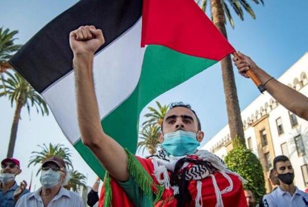 """Accord de normalisation entre les Émirats et Israël - Manifestation à Rabat contre la """"normalisation arabe"""" avec Israël"""