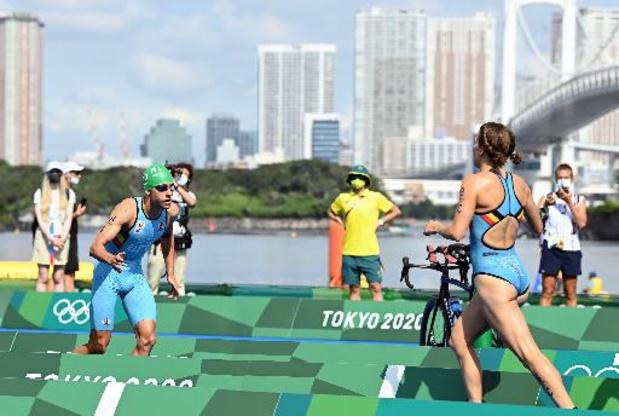 OS 2020 - Belgian Hammers worden vijfde in gemengde triatlon, Groot-Brittannië pakt goud