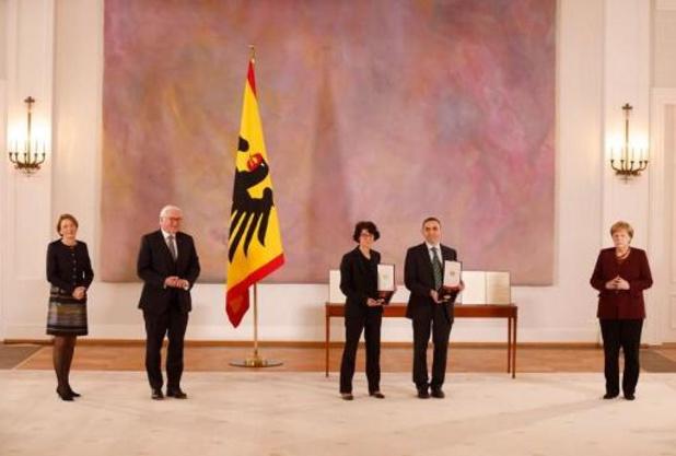 Les fondateurs de BioNTech reçoivent une des principales distinctions allemandes
