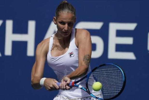 US Open - Karolina Pliskova redt matchbal tegen Amanda Anisimova