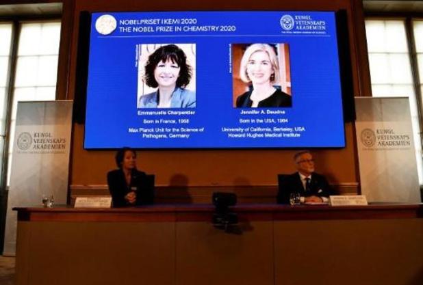 Le Nobel de chimie attribué à Emmanuelle Charpentier et Jennifer Doudna