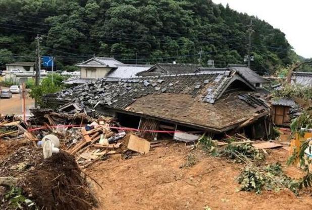 Overstromingen Japan: dodentol loopt op tot 24