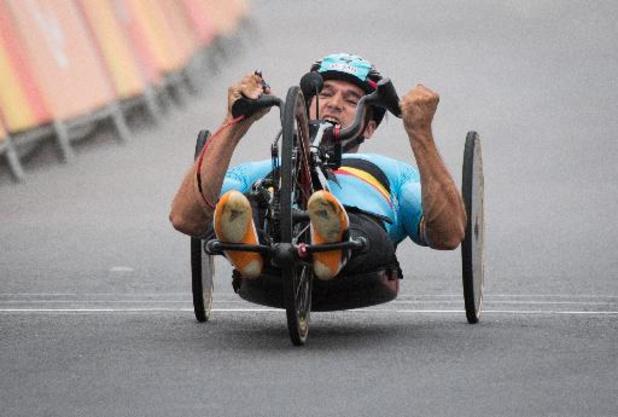 Paralympische Spelen - Jonas Van de Steene en Jean-François Deberg komen in tijdrit niet in de buurt van medaille