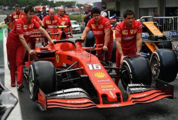 Charles Leclerc verliest tien plaatsen op startgrid F1 - GP van Brazilië