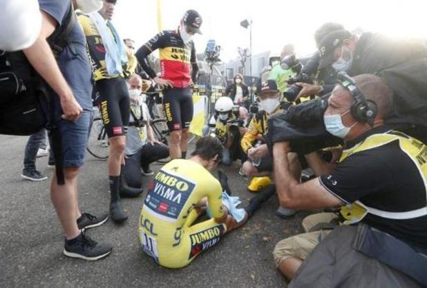 "Tour de France - Roglic na verlies gele trui: ""Ik heb alles gegeven"""