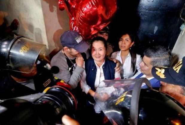 Peruaanse oppositieleidster Fujimori na 13 maanden cel op vrije voeten