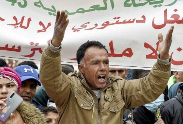 10 jaar Arabische Lente: Honderden mensen op straat in Tunesische Sidi Bouzid