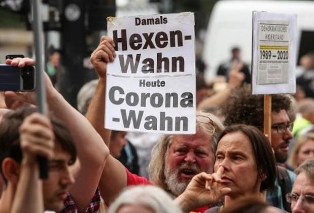 Tegenstanders van coronamaatregelen plannen nieuw protest in Düsseldorf