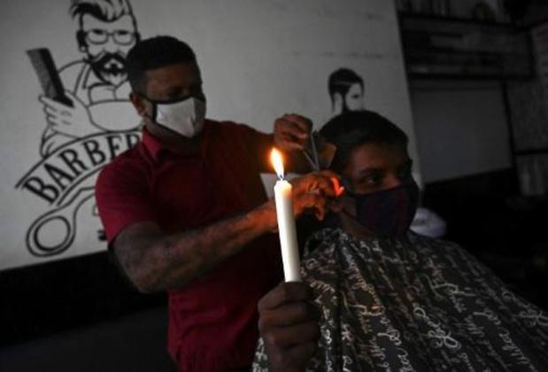 Sri Lanka in het donker door stroomonderbreking