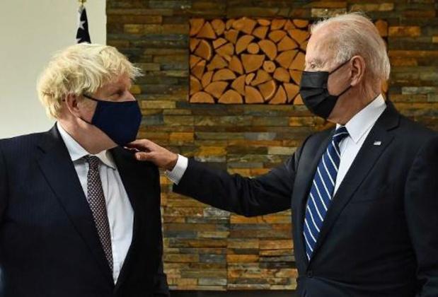 """Johnson évoque un """"terrain d'entente"""" après sa rencontre avec Biden"""
