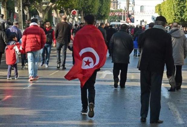 Des milliers de Tunisiens célèbrent le 9e anniversaire de la révolution