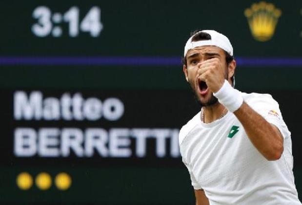 Berrettini écarte Hurkacz pour filer en finale, l'Italie à la fête dimanche à Londres