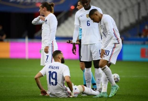 Deschamps maakt zich weinig zorgen over blessure van Benzema