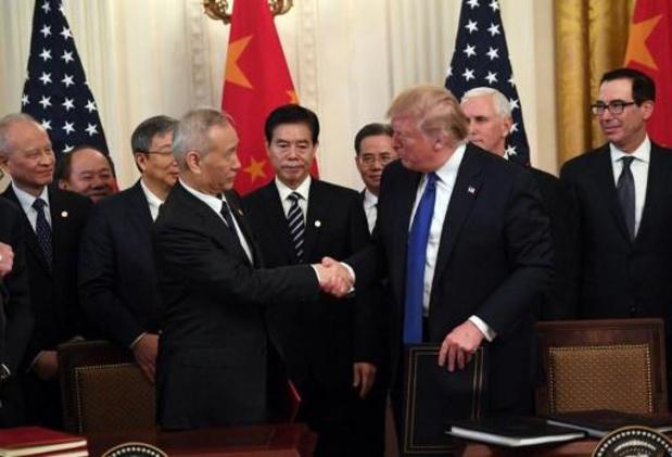VS en China ondertekenen gedeeltelijke handelsdeal