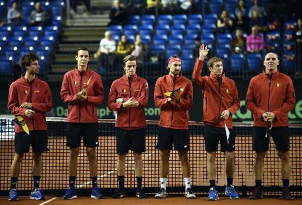 Davis Cup - Hongarije en België beginnen nek aan nek aan tweede dag