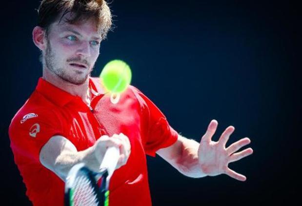 David Goffin s'incline face à Matteo Berrettini à l'Ultimate Tennis Showdown