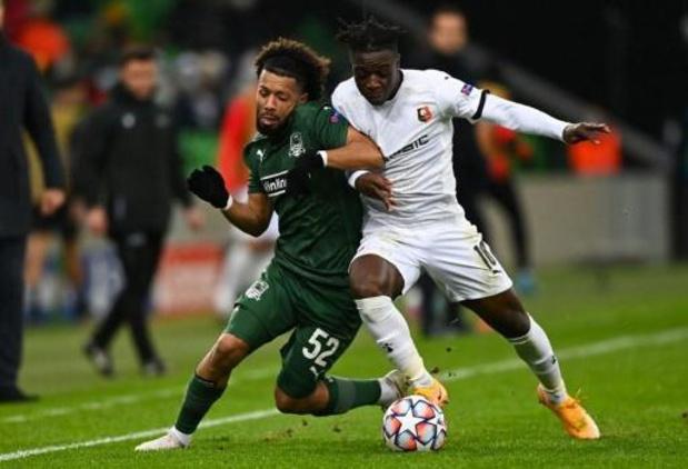 Ligue des Champions - Le Stade Rennais, avec Doku, battu par Krasnodar et éliminé de la scène européenne