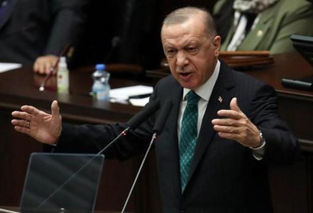 Turkse president beschuldigt VS van steun aan terroristen in Irak