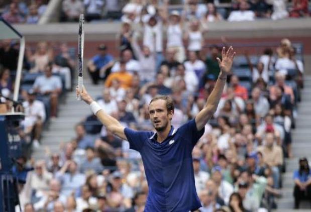 US Open - Daniil Medvedev houdt Novak Djokovic van Grand Slam