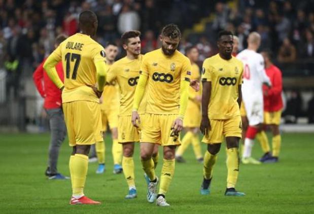 Europa League - Le Standard (battu 2-1 à Francfort) s'est réveillé trop tard
