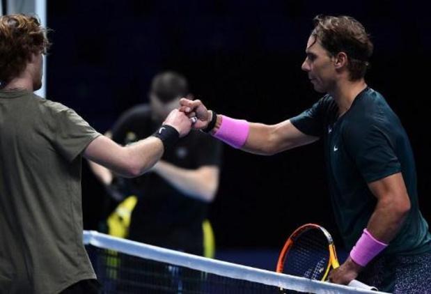 ATP Finals - Rafael Nadal wint vlot van Andrey Rublev