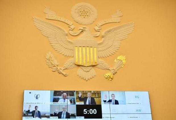 Toplui vier Amerikaanse technologiebedrijven op de rooster gelegd in Congres