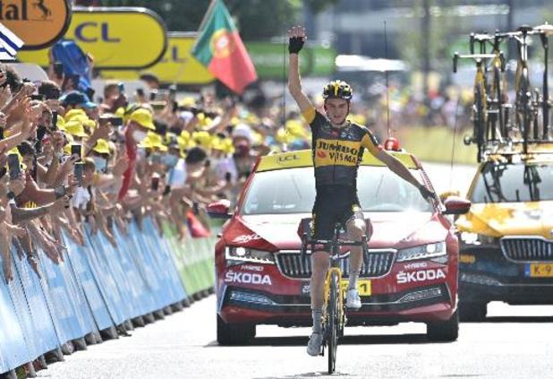 """Tour de France - Ritwinnaar Kuss: """"Moest het wel afmaken na wat Wout voor me deed"""""""