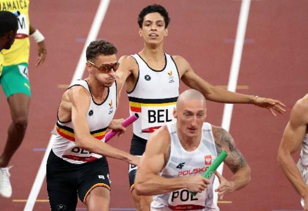 Les Belgian Tornados en finale du 4x400 m
