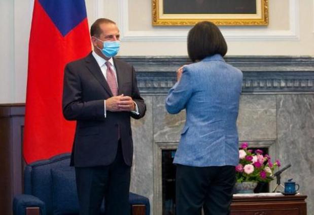 Taïwan: la présidente Tsai Ing-wen rencontre le ministre américain Alex Azar