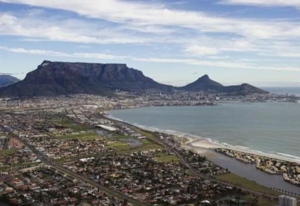 Tafelberg in Kaapstad in brand