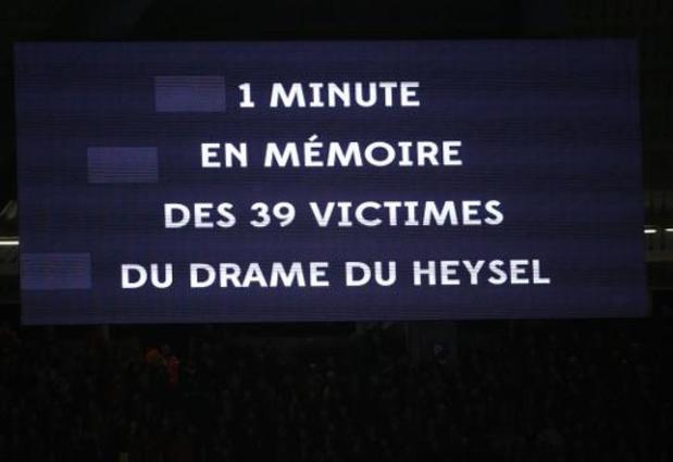 La ville de Bruxelles a rendu hommage aux 39 victimes du 'Drame du Heysel'