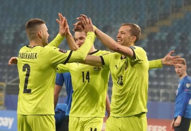 Kwal. WK 2022 - Tsjechië haalt sloophamer boven tegen Estland