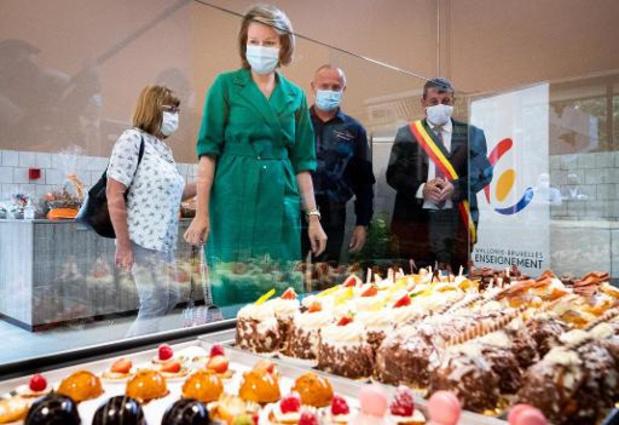 La reine Mathilde découvre l'ITCF Val-ITMA de Tournai