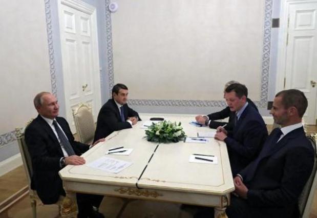 UEFA-voorzitter Ceferin spreekt vertrouwen in gaststad Sint-Petersburg uit