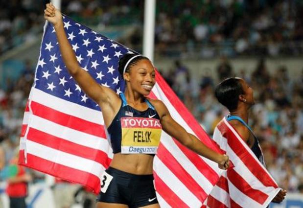 Mondiaux d'athlétisme - Une 12e médaille d'or pour l'Américaine Alysson Felix qui dépasse Usain Bolt