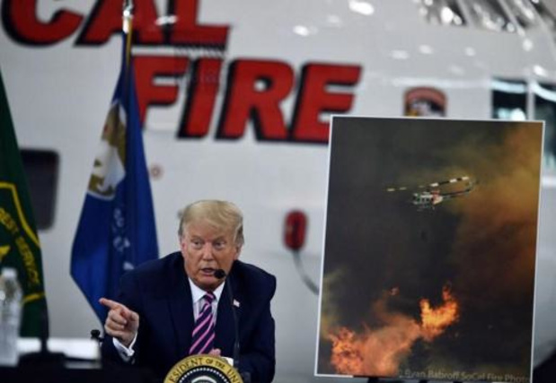 """Feux de forêt aux Etats-Unis - Trump balaie les inquiétudes sur le climat: """"Ça finira par se refroidir"""""""