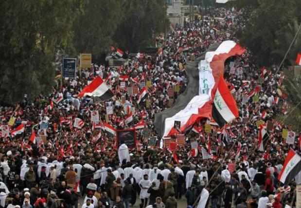 Aanhangers van sjiitische leider al-Sadr eisen vertrek Amerikaanse troepen uit Irak