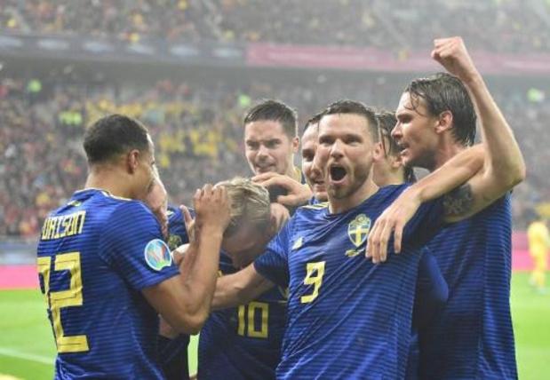 Kwal. EK 2020 - Zweden als twaalfde land geplaatst na winst in Roemenië