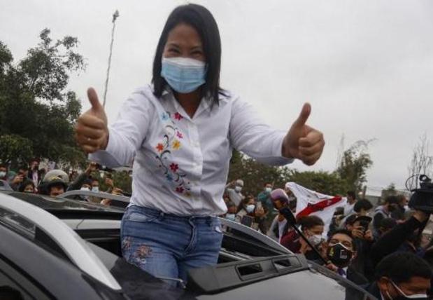 Presidentsverkiezingen Peru - Fujimori aan de leiding, maar Castillo zit haar op de hielen