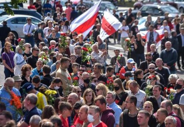 Duizenden manifestanten in Minsk