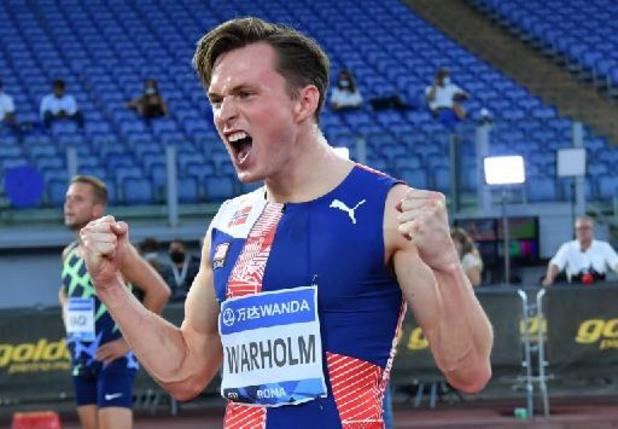 Ligue de diamant - Le Norvégien Karsten Warholm bat le record du monde du 400 m haies