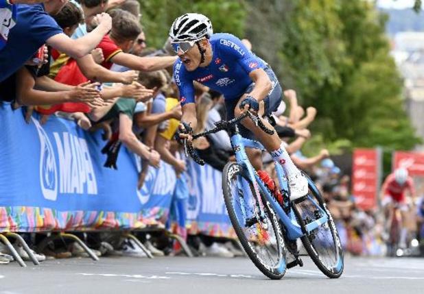 Italiaan Baroncini snelt naar wereldtitel bij U23, Thibau Nys eindigt als 6e