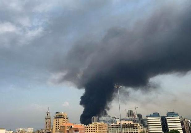 Opnieuwe grote brand in haven van Beiroet