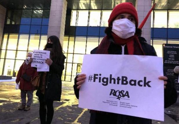 Campagne Rosa voert in Brussel actie tegen intimidatie Jeff Hoeyberghs