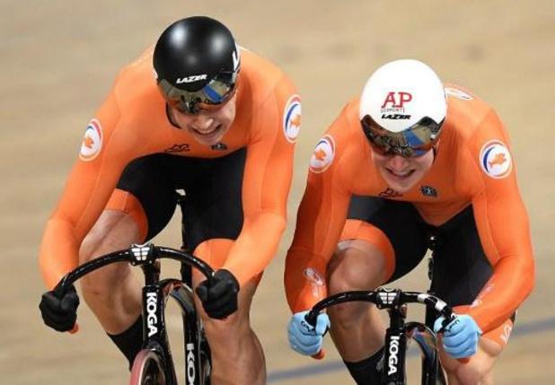 WK baanwielrennen - Nederlandse teamsprinters verpulveren wereldrecord