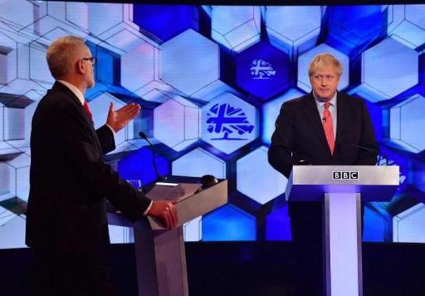 Britse verkiezingen - Corbyn verhoogt in televisiedebat druk op Johnson, maar breekt geen potten