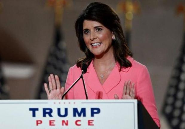 Gewezen Amerikaanse VN-ambassadrice Haley breekt met Trump